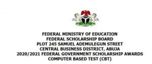 Federal Government Scholarship Award